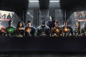 Dc Superheroes Art Wallpaper