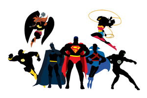 Dc Superheroes Artwork Wallpaper