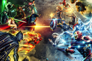 Dc Vs Marvel Heroes 5k Wallpaper