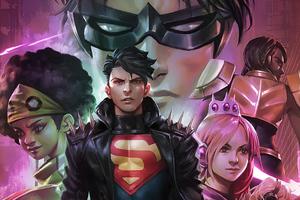 Dccomics Youngjustice Superboy Robin Impulse Jeenyhex Teenlantern Naomi Wondergirl Amythest