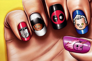 Deadpool 2 Movie Nail Paint Poster