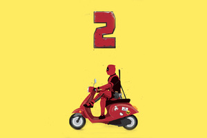 Deadpool 2 Scooter Poster Wallpaper