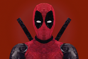 Deadpool 4k Low Poly
