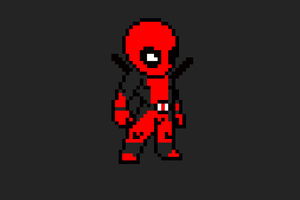 Deadpool 8 Bit Art