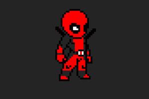 Deadpool 8 Bit Art