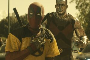 Deadpool And Colossus In Deadpool 2 Wallpaper
