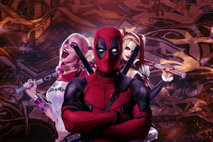 Deadpool And Harley Quinn Wallpaper