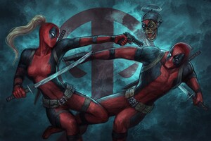 Deadpool And Ladydeadpool Wallpaper