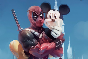 Deadpool And Mickey 4k Wallpaper
