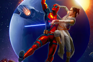 Deadpool And Rey Wallpaper