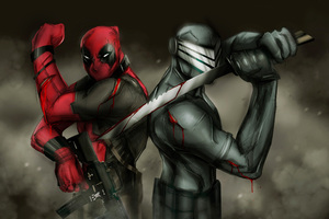 Deadpool And Snake Eyes Wallpaper