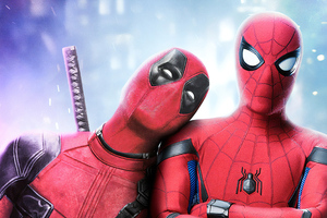 Deadpool And Spiderman Art