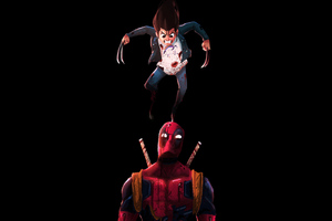 Deadpool And X23 Wallpaper