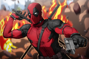 Deadpool Artwork 5k Wallpaper