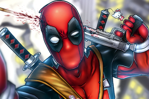 Deadpool Clicking Selfie Wallpaper