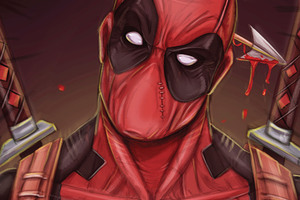 Deadpool Cool Guy Art