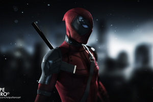 Deadpool Digital Art HD
