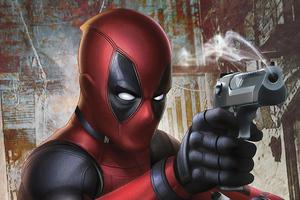 Deadpool Gun 4k