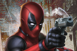 Deadpool Gun Artwork 4k Wallpaper