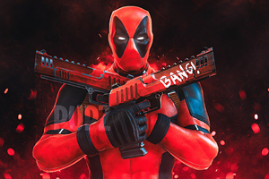 Deadpool Gun Up Wallpaper