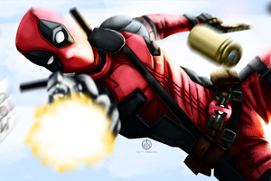 Deadpool Illustration 4k