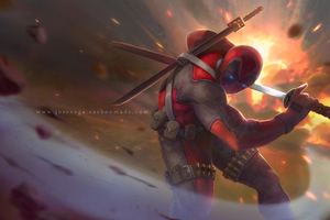 Deadpool Into Battle