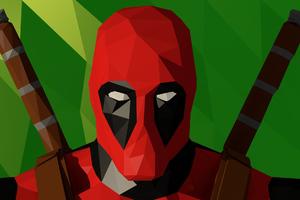 Deadpool Low Poly Artwork
