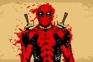 Deadpool Marvel Comic Art
