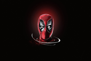 Deadpool Mask Minimalism 5k Wallpaper