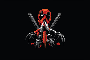 Deadpool Minimal Design Wallpaper