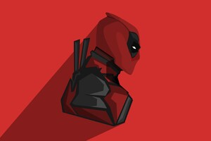 Deadpool Minimalism 4k Wallpaper