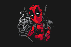 Deadpool Minimalism 5k Wallpaper