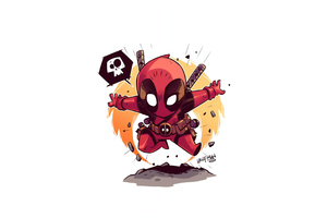 Deadpool Minimalist Art 4k