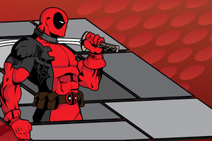 Deadpool Minimalist Background Wallpaper