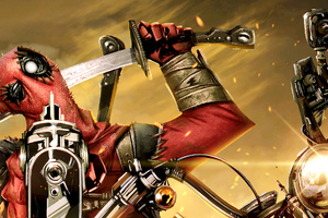 Deadpool On Bike