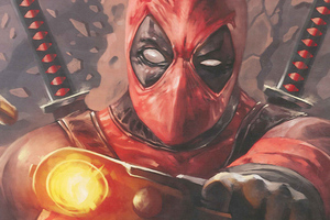 Deadpool Paint Art