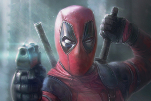 Deadpool Pointing Gun Artwork