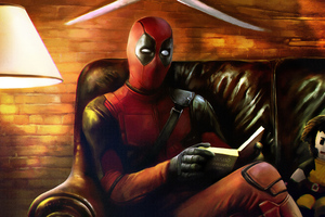 Deadpool Reading Book