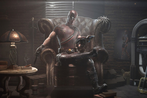 Deadpool Reading Book And Guns Wallpaper