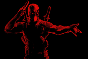 Deadpool Red Art