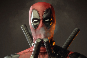 Deadpool Smelling Smoke Of Two Guns