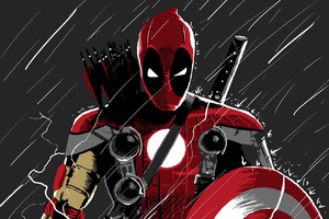 Deadpool Superhero Wallpaper