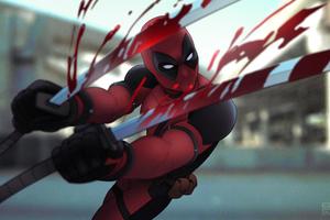 Deadpool Sword Artwork