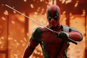 Deadpool Sword Hero Wallpaper