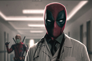Deadpool Take My Mask Doctor Wallpaper