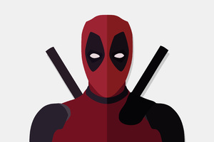 Deadpool Vector Minimalism 4k