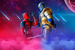Deadpool Vs Thanos Wallpaper