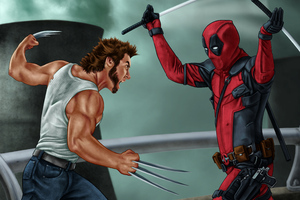 Deadpool Vs Wolverine 5k Wallpaper