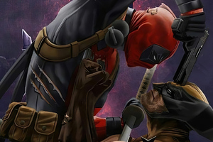 Deadpool Vs Wolverine Art Wallpaper