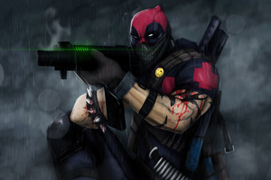 Deadpool With Big Gun Wallpaper